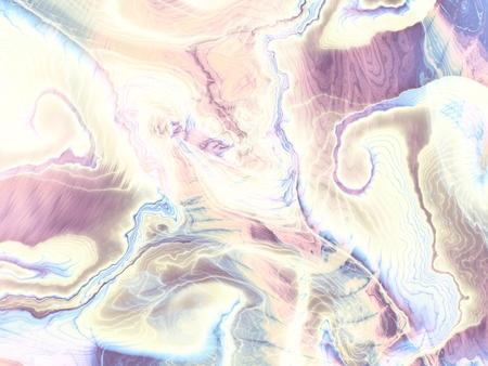 Fractal abstracte achtergrond. Golvend horizontaal patroon. Imitatie van een roze marmer textuur Stockfoto