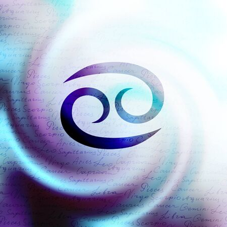 soothsayer: The sign of zodiac Virgo on a white blur background.