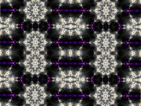 digital art: Horizontal abstract background in digital art style. Symmetrical pattern