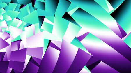 Fractal abstract pattern 16:9 aspect ratio. Violet and green colors
