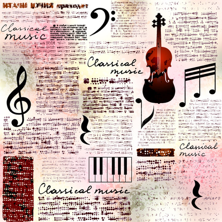 Classical music background Illustration
