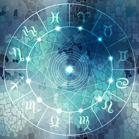 soothsayer: Circle with signs of zodiac