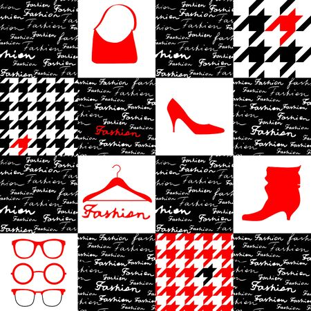 houndstooth: Fashion background with houndstooth pattern Illustration