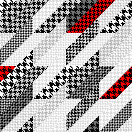 houndstooth: Seamless background pattern. Geometrical Hounds-tooth pattern in a patchwork style. Illustration