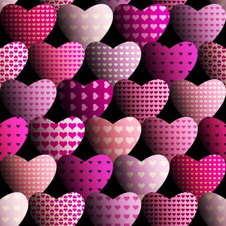Magenta hearts pattern