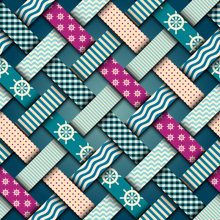 Nautical interweaving patchwork
