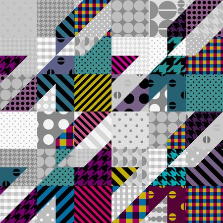 Geometrical patchwork pattern