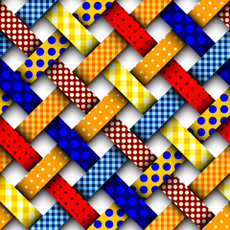 Colorful interweaving patchwork Illustration
