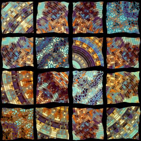 Square illustration of a Seamless mosaic pattern