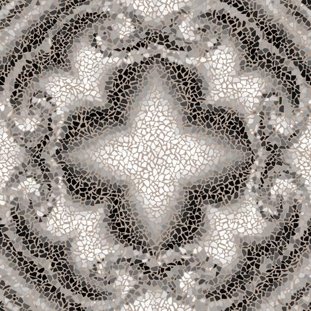 Motif de fond sans couture. Motif de mosaïque symétrique décoratif. Vecteurs