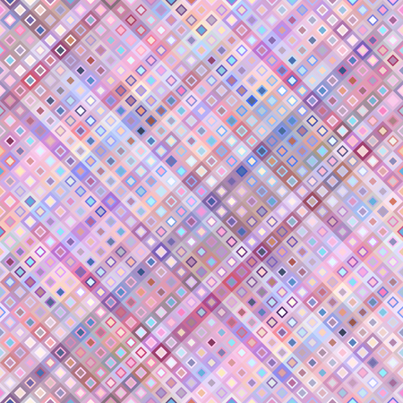 Seamless background. Geometric abstract pattern in low poly pixel art style. Diagonal pink plaid. Illustration