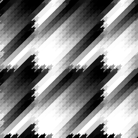 Seamless geometric pattern. Classic Hounds-tooth pattern in a lowpoly style