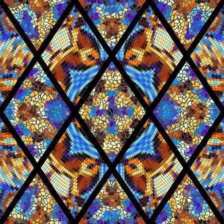 Seamless background pattern. Decorative geometric mosaic art pattern. Illustration