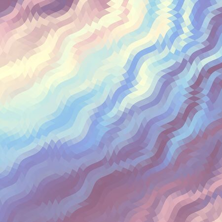 gamma: Wavy abstract diagonal pattern in low poly style. Gamma in pastel colors. Illustration