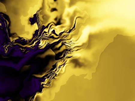 pc: Geometric wavy background. Abstract futuristic fractal image. Stock Photo