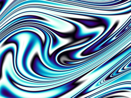 blue flame: Blue wavy background. Abstract futuristic fractal image.