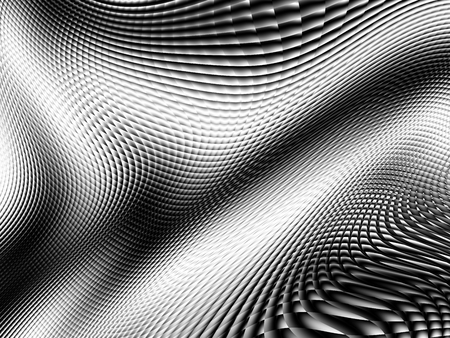 Blurred wavy diagonal background. Abstract futuristic fractal image. Imitation of a glass blur effect. Stock Photo