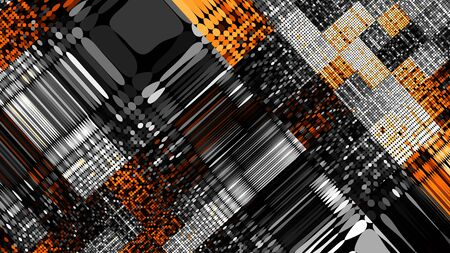 Abstract image background 16:9 aspect ratio in pixel art style. Stock Photo