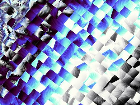 blue flame: Digital art background. Horizontal blue abstract geometric image.