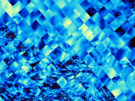 blue flame: Digital art abstract pattern. Abstract geometric image with the squares