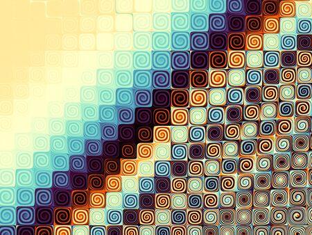 Abstract geometric fractal background. Melange mosaic image.