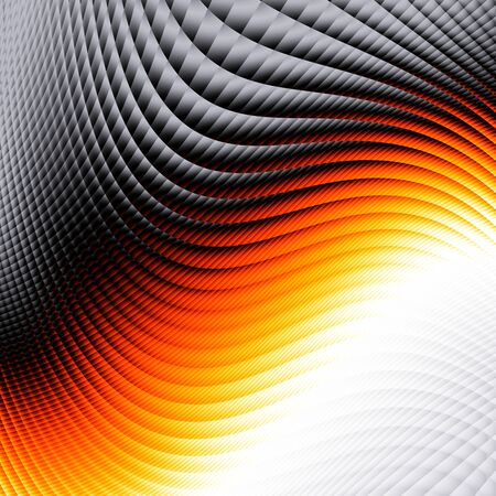 Blur geometric wavy background. Abstract futuristic fractal image.