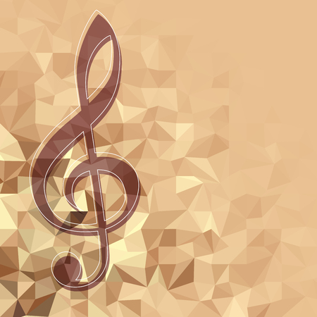 Classical music background pattern with the treble clef Ilustracja