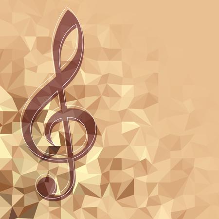 Klassiek muziekpatroon als achtergrond met de g-sleutel