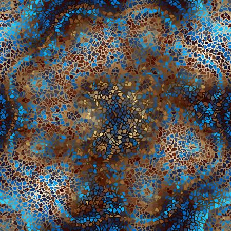 シームレスな背景パターン。ぼかしの背景に装飾的な幾何学的なモザイク アート模様。  イラスト・ベクター素材
