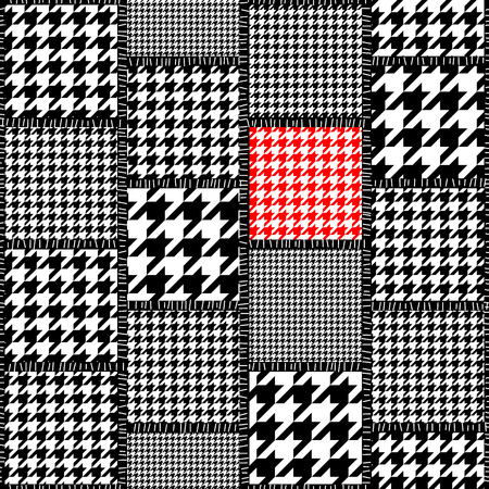 Seamless background pattern. The patchwork pattern of a houndstooths patterns.