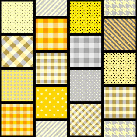 Seamless background pattern. Geometrical pattern in a patchwork style. Banco de Imagens - 81237335