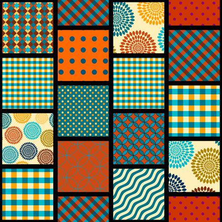 Seamless background pattern. Geometrical pattern in a patchwork style. Ilustração
