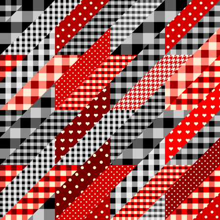 Seamless background pattern. Geometrical Hounds-tooth pattern in patchwork style,