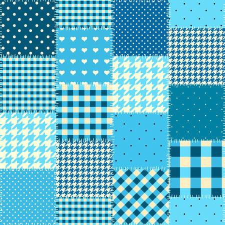 turquiose: Seamless background pattern. Geometric patchwork pattern of a squares.