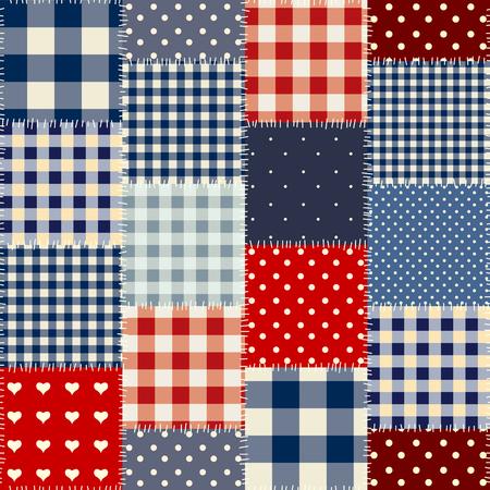 Naadloos achtergrond patroon. Geometrisch patchwork patroon van een vierkant. Stock Illustratie