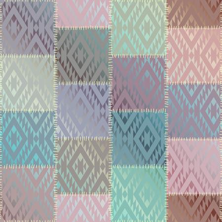 Naadloos patroon als achtergrond. Geometrisch lapwerkpatroon van vierkanten. Imitatie van een zijdetextuur.