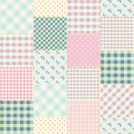 Seamless background pattern. Geometric patchwork pattern of a squares. Banco de Imagens - 84850320