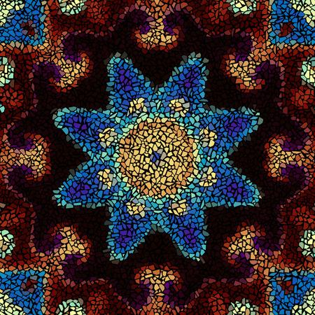 splinter: Seamless background pattern. Irregular decorative geometric mosaic art tile pattern from uneven broken pieces.