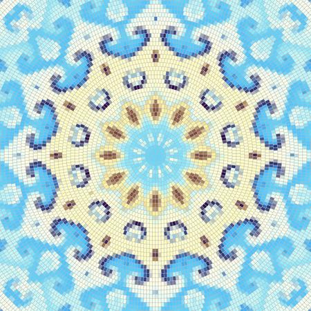 splinter: Seamless background pattern. Round decorative geometric mosaic art tile pattern.