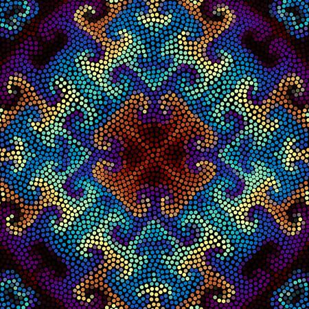 masonry: Irregular dots pattern. Seamless background. Mosaic art tile of small dots. Random circles.