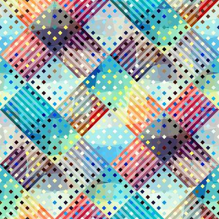 Naadloos patroon als achtergrond. Geometrisch diagonaal geruit patroon. Stock Illustratie