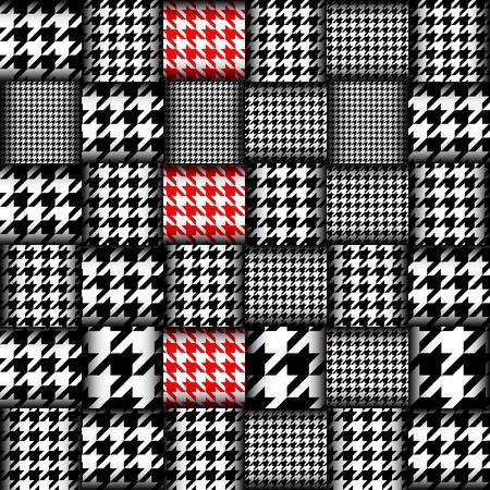 Interweaving geometric patchwork pattern.