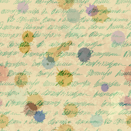 seamless: Seamless background pattern. Imitation of a abstract vintage lettering. Unreadable text.