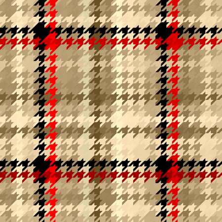 patchwork: Seamless geometric pattern. Plaid pattern of classic Hounds-tooth pattern.