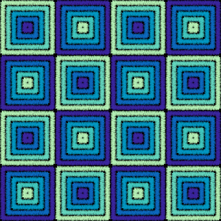 patchwork: Imitation of geometric embroidery pattern. Colored lines on a black background. Ethnic and tribal motifs. Seamless vector background in the bohemian style.