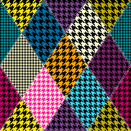 シームレスな背景パターン。ひし形のパッチワーク パターンの模倣.
