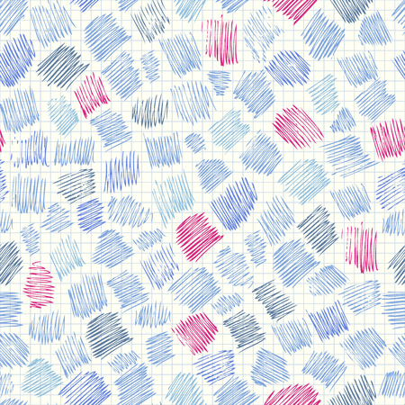 Seamless background pattern. Abstract doodlas pattern on paper surface. Ilustração