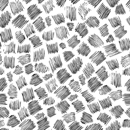 Seamless background pattern. Abstract doodlas pattern on white background. Illustration