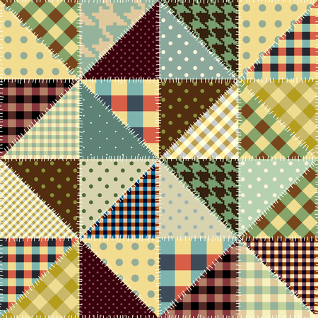 Seamless background pattern. Imitation of a retro patchwork. Illustration