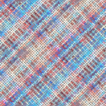 Seamless background pattern. Imitation of a texture of rough canvas painted with plaid. Illustration